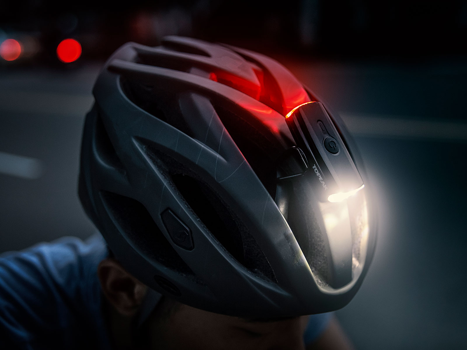 TOPEAK Headlux Helmet Light Rear Light 4-LED Helmet Mounted Bike Light Front